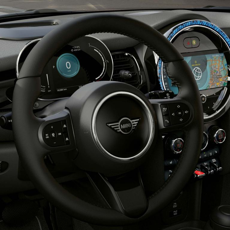 mini connected - leather sports steering wheel